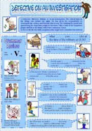 English Worksheets: BANK ROBBERY ( past continuous) Episode-2-
