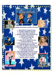 English Worksheets: Bewitched - The Movie
