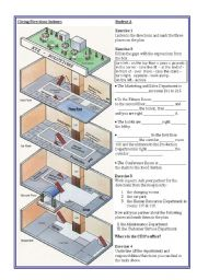 English Worksheets: Giving Directions Indoors - Departments - Students WS