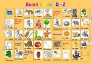 Objects Starts with Letter O http://www.eslprintables.com/games_worksheets/board_games/Board_Game_Objects_Letter__250809/