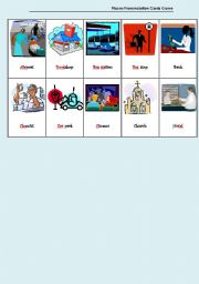 English Worksheet: Places Pronunciation Cards Game