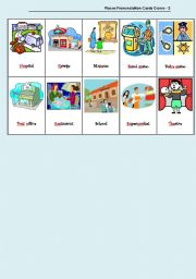 English Worksheet: Places Pronunciation Cards Game - 2