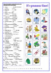 English Worksheet: It�s grammar time!