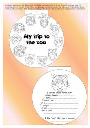 English Worksheets: original 10-paged ANIMAL MINIBOOK + 5 exercises - read + vocab + rephrase... BW, printer friendly, EDITABLE ((7_pages))