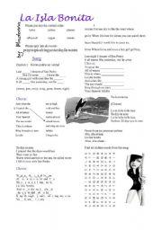 English Worksheet: La Isla Bonita by Madonna
