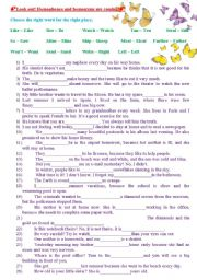 English Worksheet: Homophones and homonyms