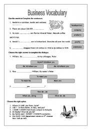 Printables Business Worksheets english teaching worksheets business vocabulary vocabulary