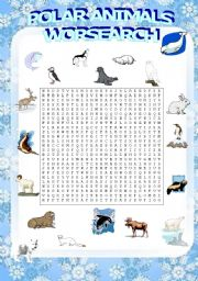 English Worksheets: polar animals wordsearch (2/3)