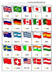English Worksheet: Countries Pronunciation Cards Game