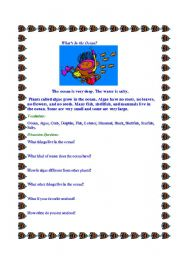 English Worksheets: What lives in the Ocean?