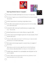 English Worksheets: michael jackson�s  biography