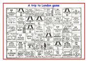 English Worksheets: A trip to London game