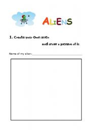English Worksheets: Drawing ALIENS