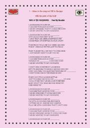 English Worksheets: Song - Body