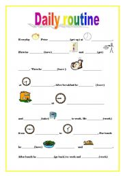 English Worksheets: Peter�s daily routine
