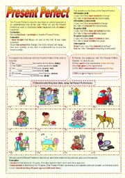 English Worksheets: Present Perfect - Grammar Guide & Practice
