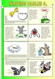 English Worksheet: Writing Fables 4. (+Acting Out Scenes, Role Playing)