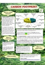 Carbon footprint - ESL worksheet by baiba