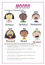 Printables Mood Worksheets english teaching worksheets describing moods moods