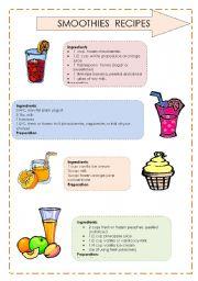 English teaching worksheets: Recipes