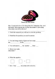 English Worksheets: math problem solving