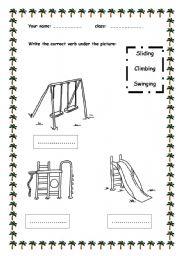 English teaching worksheets: At the playground