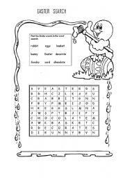 English Worksheet: EASTER SEARCH