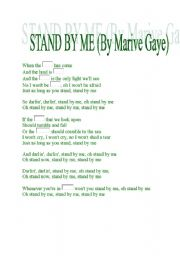 English Worksheets: Gap song- STAND BY ME