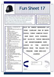 English Worksheets: Fun Sheet 17