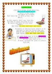 English Worksheet:  a funny poem