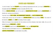 English worksheet: COURTS AND PUNISHMENT