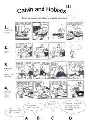 English Worksheets: Calvin and Hobbes III