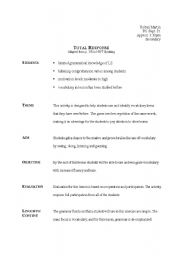 English Worksheets: Total Response