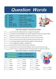 English Worksheets: Question Words 003