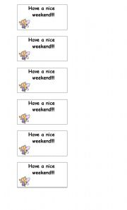 English Worksheets: Have a nice weekend