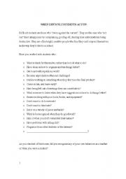 English Worksheets: when students act up