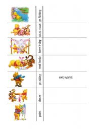 English Worksheets: How often does Winnie? - group speaking with frequency adverbs PART 2