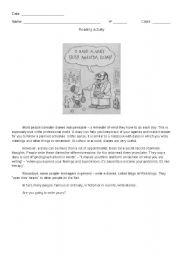 English Worksheets: Diaries