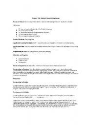English Worksheets: Silent Way