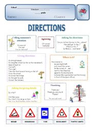 English Worksheet: Directions