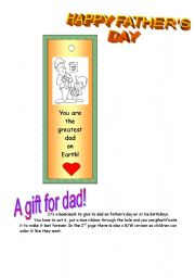 English Worksheets: HAPPY FATHER´S DAY!