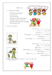 English Worksheets: Writing in process