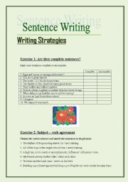 English Worksheets: sentence writing (5 pages)