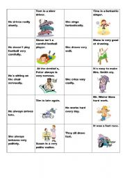 English Worksheet: adverbs of manner - memory