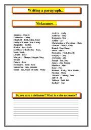 English Worksheets: Nicknames...