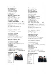 English Worksheets: From yesterday (30seconds to Mars)