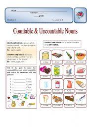 Countable & Uncountable nouns