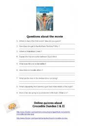 Crocodile Dundee quiz