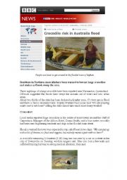 Australian news about crocodiles  (part I)
