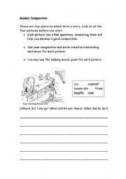 English Worksheets: Guided Composition